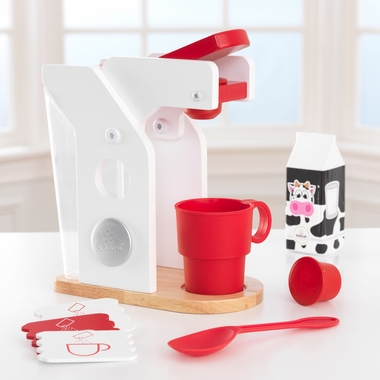 Kidkraft Coffee Maker Set in Red & White - Click to enlarge