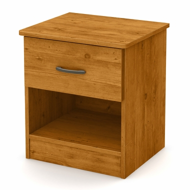 Country Pine Libra 1 Drawer Night Stand by South Shore - Click to enlarge