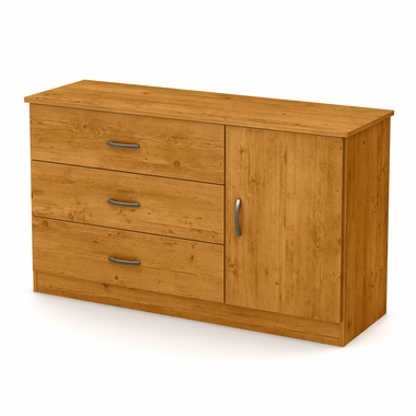 Country Pine Libra 3 Drawer Dresser with Door by South Shore - Click to enlarge