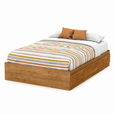 Country Pine Little Treasures Full Mates Bed with 3 Drawers by South Shore - Click to enlarge