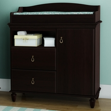Dark Mahogany Moonlight Changing Table By SouthShore