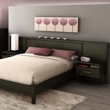 Ebony Gravity Headboard and Night Stands Kit by SouthShore