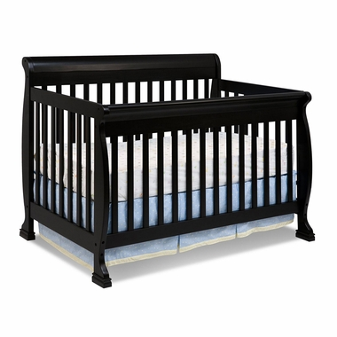 Ebony Kalani 4 in 1 Convertible Sleigh Crib by DaVinci - Click to enlarge