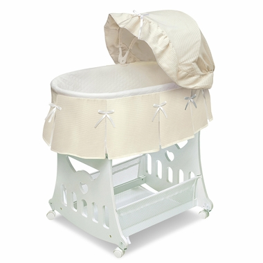 Ecru Toybox Bassinet Waffle Pleated by Badger Basket - Click to enlarge