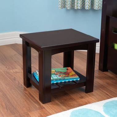 Espresso Addison Twin Side Table with Shelf by KidKraft - Click to enlarge