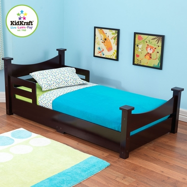 Espresso Addison Wooden Toddler Bed by KidKraft - Click to enlarge