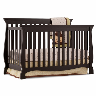 Storkcraft Carrara 4 in 1 Fixed Side Convertible Crib in Espresso - Click to enlarge