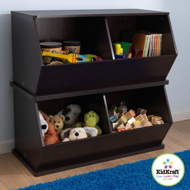 Espresso Double Storage Unit by KidKraft - Click to enlarge