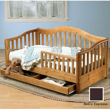 Espresso Joel Pine Toddler Bed with Underbed Drawer by Sorelle - Click to enlarge