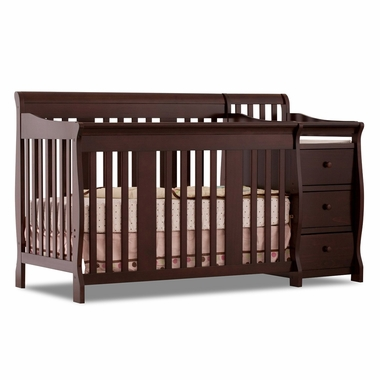 Espresso Portofino 4 in 1 Fixed Side Convertible Crib & Changer Combo by Storkcraft