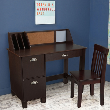 Espresso Study Desk with 3 Drawers by KidKraft - Click to enlarge