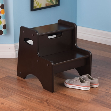 Espresso Two Step Toddler StepStool by KidKraft - Click to enlarge