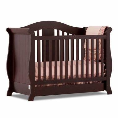 Espresso Vittoria 3 in 1 Fixed Side Convertible Crib by Storkcraft - Click to enlarge