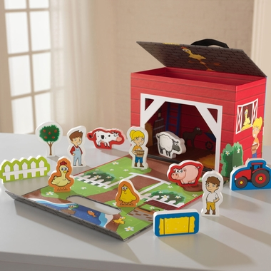 Kidkraft Farm Travel Box Play Set