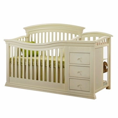 French White Sorelle Verona Crib & Changer by Sorelle - Click to enlarge