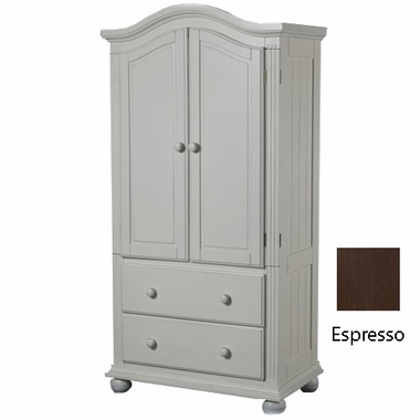 French White Vista Armoire by Sorelle - Click to enlarge