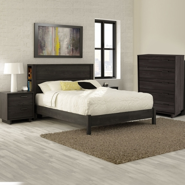 3 piece bedroom set - back bay full platform bed with storage, step
