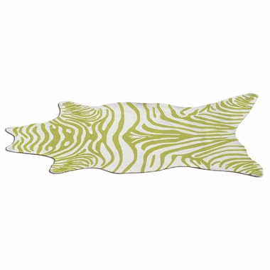 Green White Zebra Shaped Outdoor Rug 25256d By Rug Market