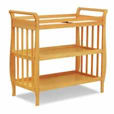Honey Oak Emily Sleigh Changing Table With Drawer By DaVinci