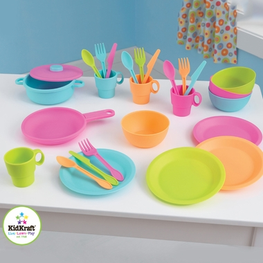 Kidkraft 27 Piece Bright Cookware Set - Click to enlarge