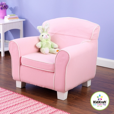 Laguna Toddler Chair with Pink Piping & Slip Cover by KidKraft - Click to enlarge