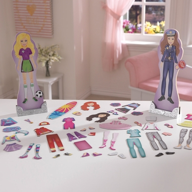 Kidkraft Magnetic Dress Up Doll - Activities & Professions