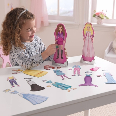 Kidkraft Magnetic Dress Up Doll - Fashion and Fairytale
