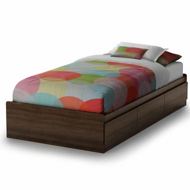 Mocha Cookie Twin Mates Bed by SouthShore