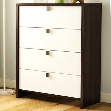 Mocha & White Cookie 4 Drawer Chest by SouthShore