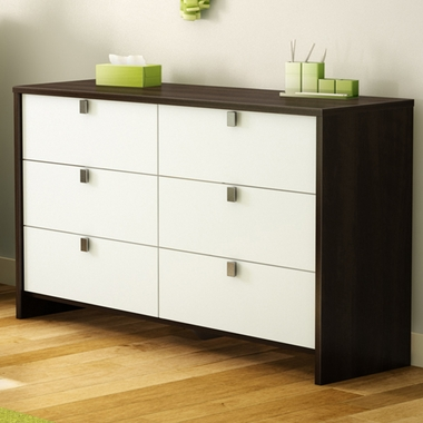 Mocha & White Cookie Double Dresser by SouthShore