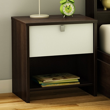 Mocha & White Cookie Night Stand by SouthShore