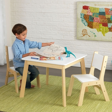 Modern Table Set with 2 Chairs by KidKraft