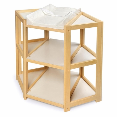 Natural Diaper Corner Changing Table by Badger Basket - Click to enlarge