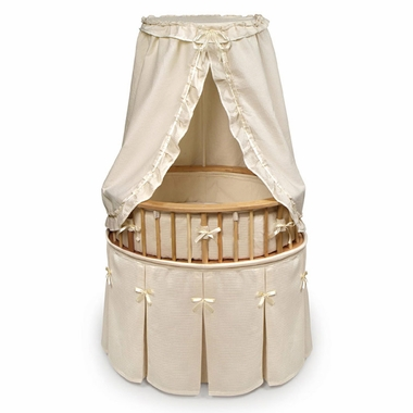 Natural Elite Bassinet Ecru Waffle Bedding by Badger Basket