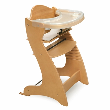 Natural Embassy Wood High Chair with Tray by Badger Basket - Click to enlarge