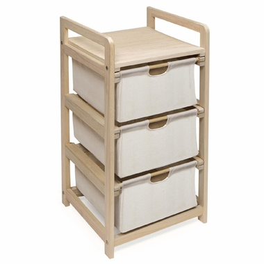 Natural Three Drawer Hamper/Storage Unit by Badger Basket