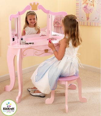 New Princess Table & Stool by KidKraft