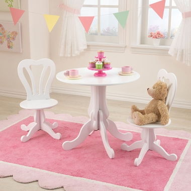 Kidkraft Parlor Table & 2 Chairs  in White