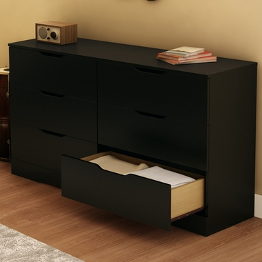 Pure Black Holland Double Dresser by SouthShore