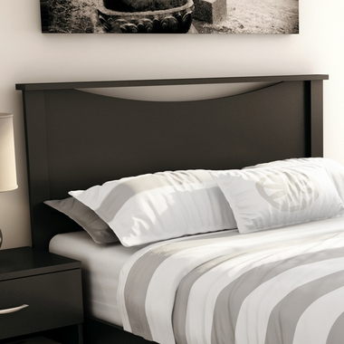 Pure Black Step One Twin Headboard by SouthShore - Click to enlarge