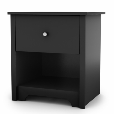 Pure Black Vito Night Stand by South Shore - Click to enlarge