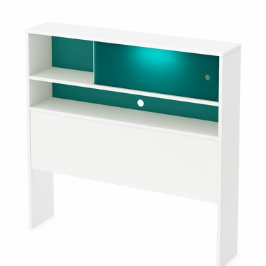Little Monsters Twin Headboard Bookcase With Night Light