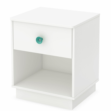 Pure White Little Monsters 1 Drawer Night Stand by South Shore