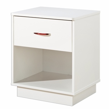 Pure White Logik 1 Drawer Night Stand by South Shore - Click to enlarge