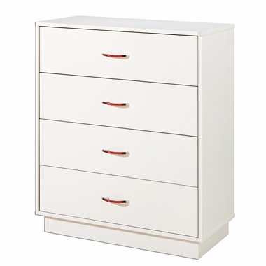 Pure White Logik 4 Drawer Chest by South Shore - Click to enlarge