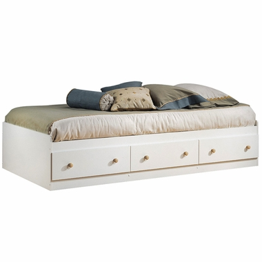 Pure White/Maple Newbury Mates Bed Box by SouthShore