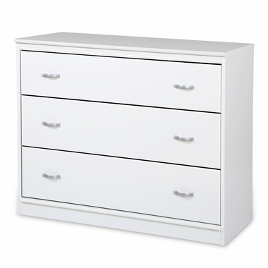 Pure White Mobby 3 Drawer Chest by South Shore