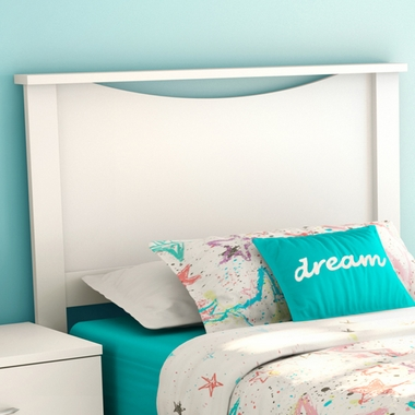 Pure White Step One Twin Headboard by SouthShore - Click to enlarge