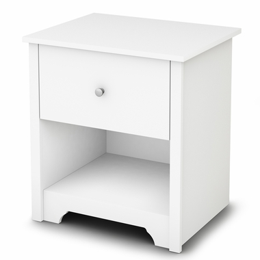 Pure White Vito Night Stand by South Shore - Click to enlarge