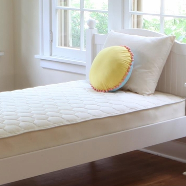 Quilted Organic Cotton 1-Sided Deluxe Trundle Short Twin Mattress by Naturepedic
